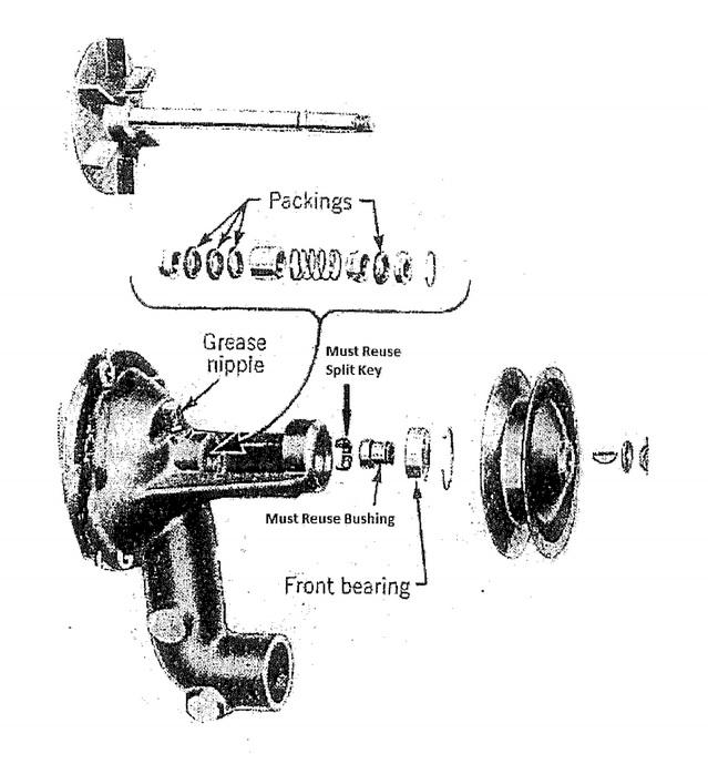1937 1938 1939 1940 1941 1942 1946 1947 1948 cadillac water pump rebuilding kit v8 motors