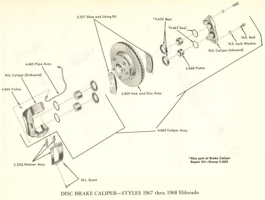 [DIAGRAM_4PO]  1967 1968 Cadillac Eldorado Disc Brake Caliper - Cadillac Parts Online |  Caddy Daddy | Cadillac Brakes Diagram |  | Caddy Daddy