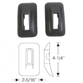 1939 1940 Cadillac (See Details) Rear Rubber Bumper Grommets 1 Pair REPRODUCTION Free Shipping In The USA