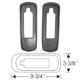 1940 Cadillac (See Details) Rubber Tail Light Mounting Pads 1 Pair REPRODUCTION Free Shipping In The USA