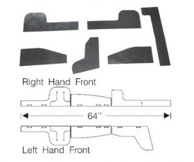 1941 Cadillac Front Inner Rubber Fender Shield Filler Set (6 Pieces) REPRODUCTION Free Shipping In The USA
