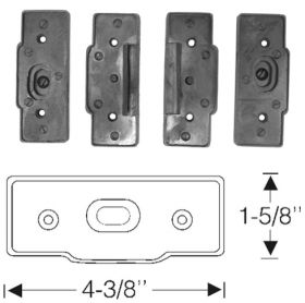 1939 1940 Cadillac Series 75 4-Door Convertible Detachable Center Post Rubber Pads (4 Pieces) REPRODUCTION Free Shipping In The USA