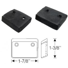 1940 Cadillac Convertible LaSalle Series 50 Top Arm Rubber Pads 1 Pair REPRODUCTION  Free Shipping In The USA