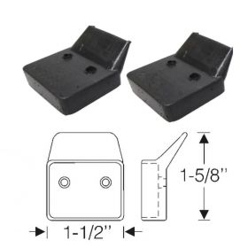 1940 1941 Cadillac 2-Door Convertible (See Details) Top Arm Rubber Pads 1 Pair REPRODUCTION Free Shipping In The USA