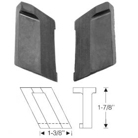 1940 Cadillac (See Details) Rubber Trunk Bumpers 1 Pair REPRODUCTION  Free Shipping In The USA