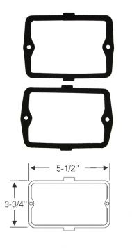 1960 Cadillac Parking and Fog Light Lens Gaskets 1 Pair REPRODUCTION