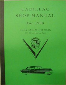 1950 Cadillac Shop Manual REPRODUCTION Free Shipping In The USA