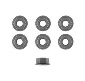 Cadillac Hex Flange Nuts Set (Flange Outer Diameter 21 mm Hex Size 15 mm) (6 Pieces) REPRODUCTION