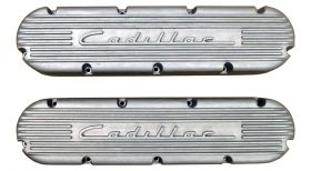 1968 1969 1970 1971 1972 1973 1974 1975 1976 1977 1978 1979 1980 1981 1982 1983 1984 Cadillac Valve Covers With 1949 Style Cadillac Script and Fins (See Details for Finish) REPRODUCTION Free Shipping In The USA