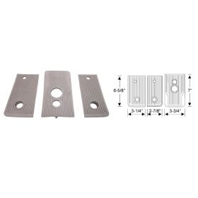 1941 Cadillac Manual (See Details) Brown Rubber Floorplate Kit (3 Pieces) REPRODUCTION Free Shipping In The USA