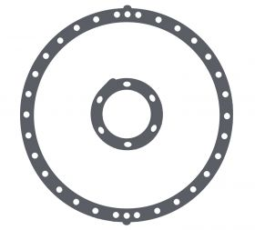 1949 1950 1951 1952 1953 1954 1955 Cadillac Hydramatic Transmission Flywheel Torus Cover Gaskets (2 Pieces) REPRODUCTION Free Shipping In The USA
