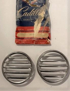 1954 1955 Cadillac  (See Details) Accessory Exhaust Port Grille 1 Pair New Old Stock Free Shipping In The USA