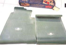 1956 Cadillac Front Rubber Floor Mats Green NOS
