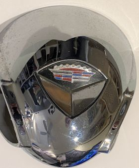 1959 Cadillac Chrome Horn Button With Emblem USED Free Shipping In The USA