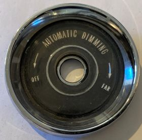 1961 1962 1963 1964 Cadillac Dial For Headlight Switch Bezel For Models With Automatic Dimming USED Free Shipping In The USA