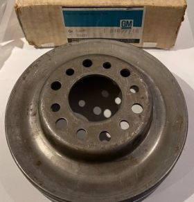 1963 1964 1965 Cadillac (See Details)  CRANKSHAFT TRIPLE GROOVE PULLEY CARS W/AIR CONDITIONING NEW OLD STOCK FREE SHIPPING IN THE USA