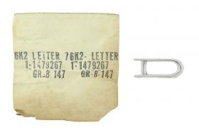 "1963 1964 1965 1966 1967 1970 Cadillac Eldorado Front Fender Letter ""D""  NOS Free Shipping In The USA"