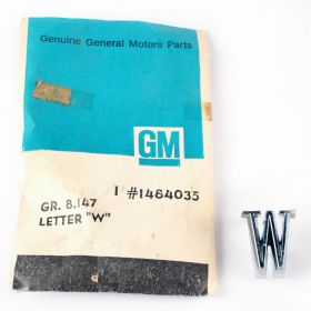"""1965 1966 1967 1968 1969 1970 Cadillac Fleetwood (See Details) Front Fender Letter """"W"""" NOS Free Shipping in The USA"""