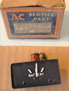 1949 CADILLAC AMMETER GAUGE NOS FREE SHIPPING IN THE USA