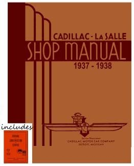 1937 1938 Cadillac All Models Service Manuals CD REPRODUCTION Free Shipping In The USA