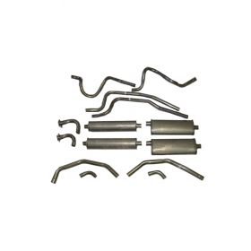 1957 1958 1959 1960 Cadillac (EXCEPT Eldorado Brougham) Aluminized Dual Exhaust System With 4 Mufflers REPRODUCTION
