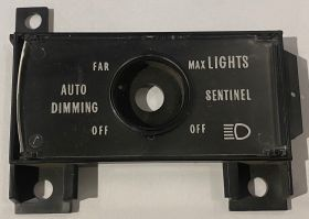 1978 1979 1980 Cadillac Calis & Deville Twilight Sentinel Dash Plate Escutcheon NOS Free Shipping In The USA