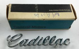 1971 1972 1973 1974 1975 1976 Cadillac Deville Trunk Script NOS Free Shipping In The USA