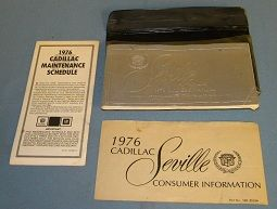 1976 Cadillac Seville Owners Manual SET - Original  USED Free Shipping In The USA