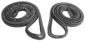 1980 1981 1982 1983 1984 1985 Cadillac 2-Door Fleetwood Brougham (WITH Rear Wheel Drive) Door Rubber Weatherstrips 1 Pair REPRODUCTION Free Shipping In The USA