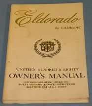 1980 Cadillac Eldorado Owners Manual - Original USED Free Shipping In The USA