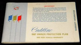 1967 Cadillac Owner Protection Plan Booklet - Original  USED Free Shipping In The USA
