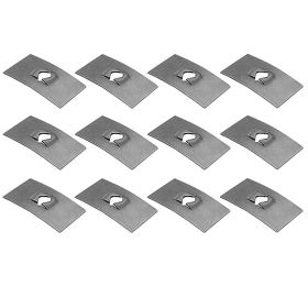 Cadillac Flat Nut Clip Set (1/2 Inch Wide x 7/8 Inch Long) (12 Pieces) REPRODUCTION