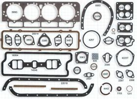 1949 1950 1951 1952 1953 1954 1955 Cadillac Complete Engine Gasket Set (68 Pieces) REPRODUCTION Free Shipping In The USA