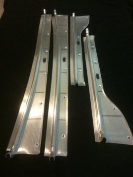 1941 1942 1946 1947 1948 1949 Cadillac Series 75 Limousine Door Sill Plate Set of 4 REPRODUCTION