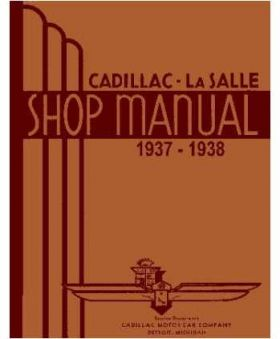 1937 1938 Cadillac Chassis Only Shop Manual REPRODUCTION Free Shipping In The USA