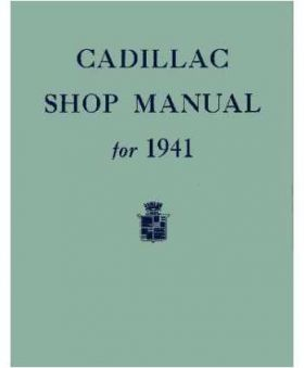 1941 Cadillac Chassis Only Shop Manual REPRODUCTION Free Shipping In The USA
