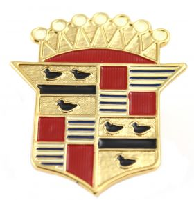 1941 1942 Cadillac Hood Side Crest Emblem REPRODUCTION Free Shipping In The USA