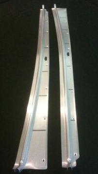 1948 1949 Cadillac Series 61 and Series 62 2-Door Convertible and Hardtop Door Sill Plate Set of 2 REPRODUCTION