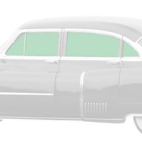 1950 1951 1952 1953 Cadillac 4-Door Series 62 And Fleetwood Series 60 Special Side Glass Set (8 Pieces) REPRODUCTION Free Shipping In The USA