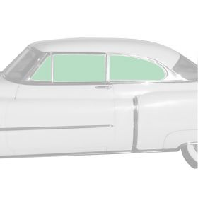 1951 Cadillac 2-Door Hardtop Glass Set (6 Pieces) REPRODUCTION Free Shipping In The USA