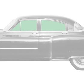 1950 1951 1952 Cadillac Series 61 4-Door Sedan Glass Set (6 Pieces) REPRODUCTION Free Shipping In The USA