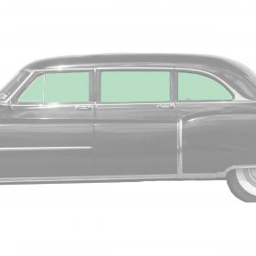 1950 1951 1952 1953 Cadillac Fleetwood Series 75 Limousine Side Glass Set (8 Pieces) REPRODUCTION Free Shipping In The USA