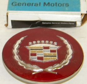 1989 1990 1991 Cadillac Wire Wheel Cover Crest Emblem  NOS Free Shipping In The USA