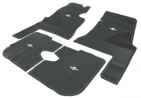 1959 1960 Cadillac 4-Door Black Rubber Floor Mats (4 Pieces) REPRODUCTION Free Shipping In The USA