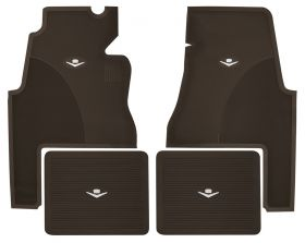 1959 1960 Cadillac 2-Door Dark Brown Rubber Floor Mats (4 Pieces) REPRODUCTION Free Shipping In The USA