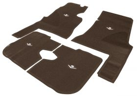 1959 1960 Cadillac 4-Door Dark Brown Rubber Floor Mats (4 Pieces) REPRODUCTION Free Shipping In The USA