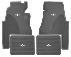 1959 1960 Cadillac 2-Door Gray Rubber Floor Mats (4 Pieces) REPRODUCTION Free Shipping In The USA