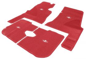 1959 1960 Cadillac 4-Door Red Rubber Floor Mats (4 Pieces) REPRODUCTION Free Shipping In The USA
