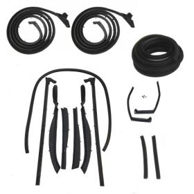 1959 1960 Cadillac Series 62 and Eldorado 2-Door Convertible Basic Rubber Weatherstrip Kit (14 pieces) REPRODUCTION Free Shipping In The USA