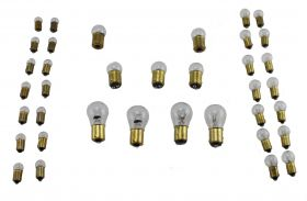 1958 Cadillac Light Bulb Replacement Kit 37 Pieces (With Fog Bulbs) REPRODUCTION Free Shipping In The USA